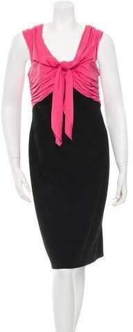 Paule Ka Sleeveless Cocktail Dress w/ Tags