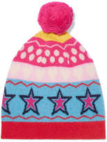 Chinti and Parker Ski Party Wool-jacquard Beanie - Pink