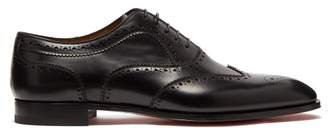 Christian Louboutin Cousin Platerissimo Leather Brogues - Mens - Black
