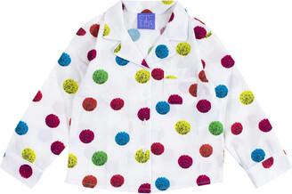 Stella Jean Polka Dot Printed Cotton Shirt