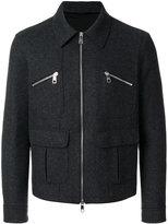 Neil Barrett zipped jacket - men - Polyamide/Spandex/Elastane/Cupro/Wool - S