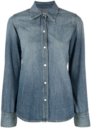Nili Lotan Long-Sleeved Denim Shirt
