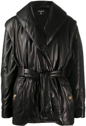 Balmain Detachable Sleeve Padded Jacket