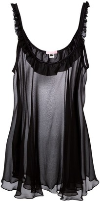 Gilda & Pearl Bardot sheer slip dress