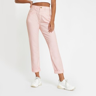 River Island Womens Light Pink Mom fit high rise jeans