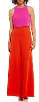Calvin Klein Two-Tone Popover Gown