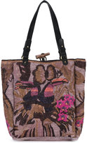 Jamin Puech embroidered tote - women - Raffia - One Size