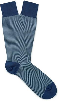 Pantherella Seymour Striped Fil D'ecosse Cotton-Blend Socks