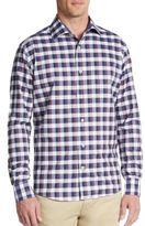 Saks Fifth Avenue BLACK Slim-Fit Check Cotton Sportshirt