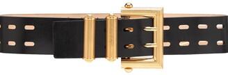Versace Square Buckle Laser Cut Belt