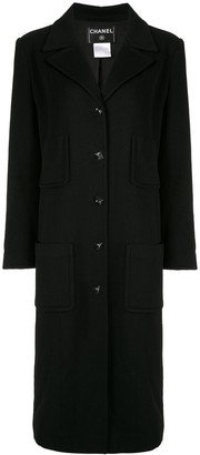 Chanel Pre Owned Long Sleeve Jacket Coat