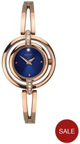 Seksy Midnight Face Rose Tone Ladies Watch