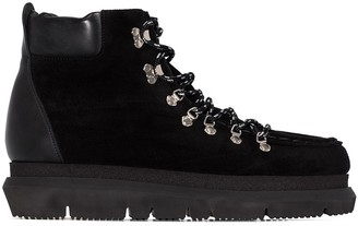 Sacai Lace-Up Ankle Boots