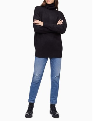 Calvin Klein Solid Dolman Sleeve Turtleneck Sweater