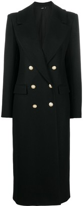 Amen Pearl-Button Double-Breasted Coat
