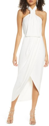 Shona Joy Knotted Tulip Hem Gown