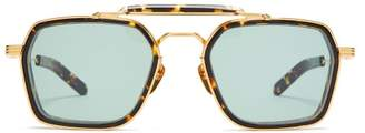 Jacques Marie Mage - Kilpatrick Aviator Acetate And Titanium Sunglasses - Mens - Gold