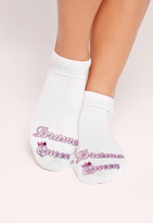 Missguided Drama Queen Socks White