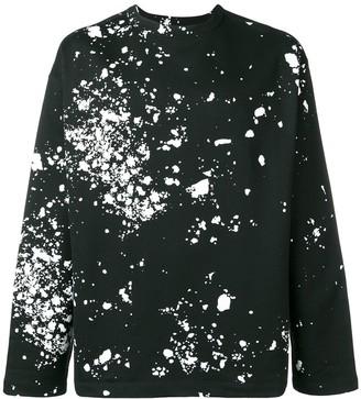 Oamc Paint Splatter Print Sweatshirt