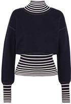 Loewe Striped Stretch-knit Turtleneck Sweater