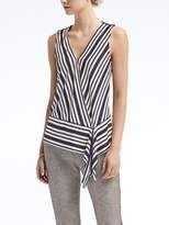Banana Republic Stripe Handkerchief Hem Top