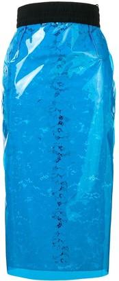 No.21 Floral Lace Pencil Skirt