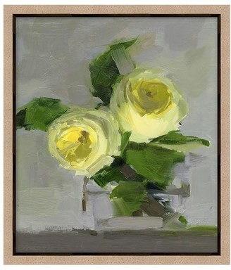 Pottery Barn Yellow Roses Canvas