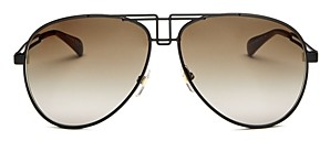Givenchy Women's Brow Bar Aviator Sunglasses, 61mm