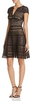 Tadashi Shoji Illusion Lace Fit-and-Flare Dress