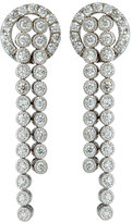 Neiman Marcus Diamonds 14k Double-Row Milgrain Diamond Dangle Earrings