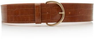 MAISON BOINET Croc-Effect Leather Corset Belt