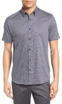 Ted Baker Men's Panalon Geo Floral Print Sport Shirt