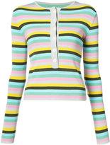Natasha Zinko horizontal stripe sweater - women - Polyester/Viscose - S