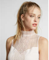 Express lace mock neck tank
