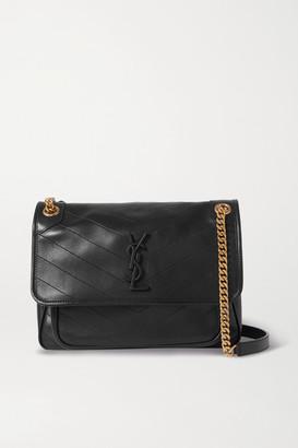 Saint Laurent Niki Medium Quilted Leather Shoulder Bag - Black