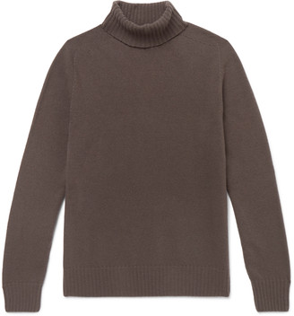 Officine Generale Merino Wool and Cashmere-Blend Rollneck Sweater - Men - Brown