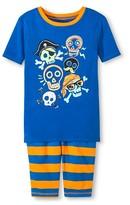 Circo Boys' 2-Piece Skull Pajama Set Blue