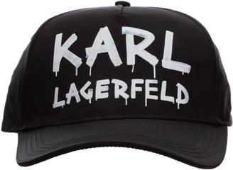 Karl Lagerfeld Paris Graffiti Logo Baseball Cap