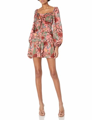 Finders Keepers findersKEEPERS Women's Elisa Long Sleeve Shirred Mini Dress
