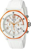 Bulova 98B199 Men's Quartz Chronograph Watch with Dial and Silicone Strap