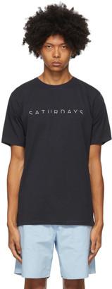 Saturdays NYC Navy Horizon T-Shirt