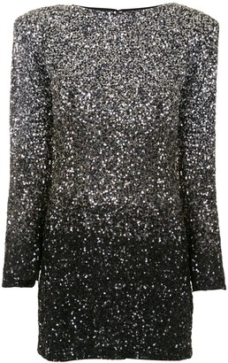 retrofete Gradient Sequinned Mini Dress