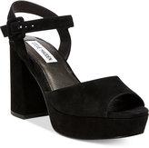 Steve Madden Women's Trixie Two-Piece Block-Heel Platform Sandals
