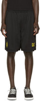 Marcelo Burlon County of Milan Black Vallegrande Shorts