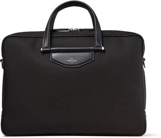 Jimmy Choo KNOX Black Nylon Briefcase with Gel Laptop Pocket
