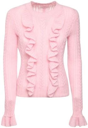 Philosophy di Lorenzo Serafini Ruffled Mohair Blend Knit Sweater