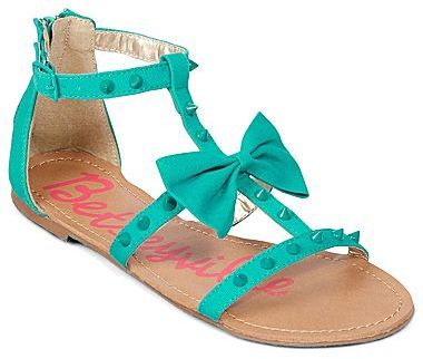 Betseyville by Betsey Johnson Millie Bow T-Strap Sandals