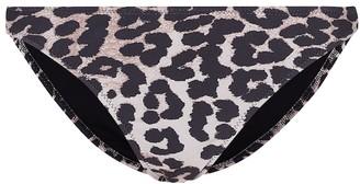 Ganni Leopard-print bikini bottoms