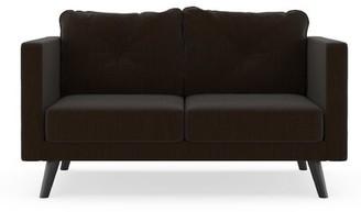 Crothers Loveseat Corrigan Studio Fabric: Espresso, Leg Color: Black