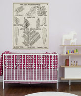 Baby Crib Bedding - Dots in fuschia